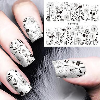 1pcs Nail Art matrica Víz Transfer Matricák smink Kozmetika Nail Art Design