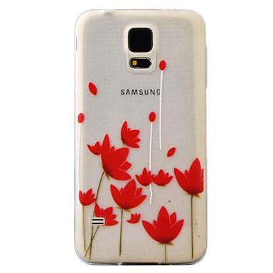 Case Kompatibilitás Samsung Galaxy S7 edge S7 Minta Hátlap Virág Puha TPU mert S7 edge S7 S6 edge S6 S5