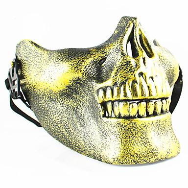 Maski na Halloween Maska czaszki Zabawki Czaszka Szkielet Plastikowy PVC Motyw horroru Vintage Retro 1 Sztuk Halloween Bal maskowy Prezent