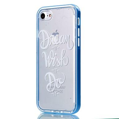 Kompatibilitás iPhone 8 iPhone 8 Plus iPhone 7 iPhone 6 iPhone 5 tok tokok Átlátszó Minta Hátlap Case Szó / bölcselet Puha Hőre lágyuló