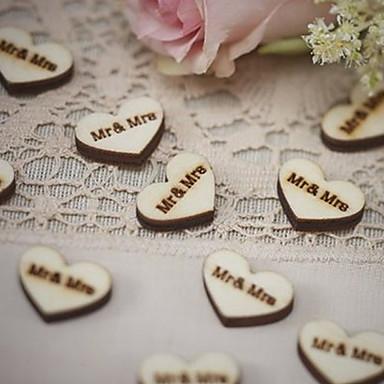 Ślub / Zaręczynowy / Cicha sympatia / Walentynki / Wesele Drewniany Materiał przyjazny dla środowiska Dekoracje ślubne Motyw Garden /