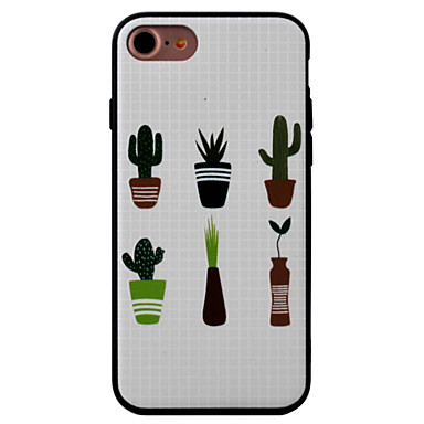 용 패턴 케이스 뒷면 커버 케이스 꽃장식 하드 아크릴 Apple 아이폰 7 플러스 / 아이폰 (7) / iPhone 6s Plus/6 Plus / iPhone 6s/6