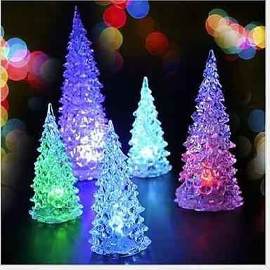 2db karácsony karácsonyfa karácsonyi mini led színes éjjeli (véletlenszerű szín)