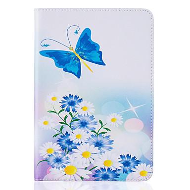Mert Kártyatartó / Állvánnyal / Dombornyomott / Minta Case Teljes védelem Case Virág Kemény Műbőr Apple iPad Mini 4 / iPad Mini 3/2/1