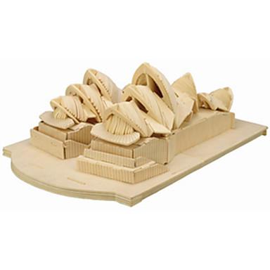 Jigsaw Puzzle Fából készült építőjátékok Építőkockák DIY játékok híres épületek 1 Fa Kristály