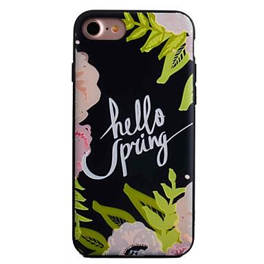 Mert Minta Case Hátlap Case Virág Kemény Akril Apple iPhone 7 Plus / iPhone 7 / iPhone 6s Plus/6 Plus / iPhone 6s/6