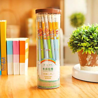 연필 펜 컬러 연필 펜,나무 통 임의 색상 잉크 색상 For 학용품 사무용품 팩