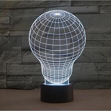 izzó érintés tompítása 3D LED éjszakai fény 7colorful dekoráció hangulat lámpa újdonság világítás karácsonyi fény