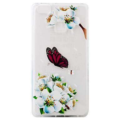 화 웨이 오름차순 p9 p9 라이트 케이스 커버 흰색 나비 패턴 슈퍼 부드러운 tpu 소재