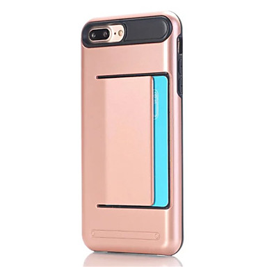 Kompatibilitás iPhone X iPhone 8 iPhone 7 iPhone 6 iPhone 5 tok tokok Kártyatartó Hátlap Case Tömör szín Kemény PC mert Apple iPhone X