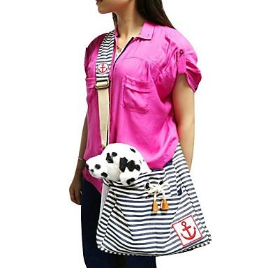 고양이 강아지 캐리어&여행용 배낭 슬링 백 애완동물 캐리어 휴대용 캐쥬얼/데일리 레드 블루 면