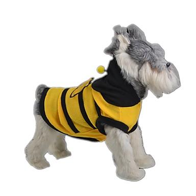고양이 강아지 코스츔 강아지 의류 귀여운 코스프레 동물 옐로우 코스츔 애완 동물