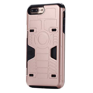 Mert iPhone 7 tok / iPhone 7 Plus tok Kártyatartó Case Hátlap Case Páncél Kemény PC mert AppleiPhone 7 Plus / iPhone 7 / iPhone 6s Plus/6