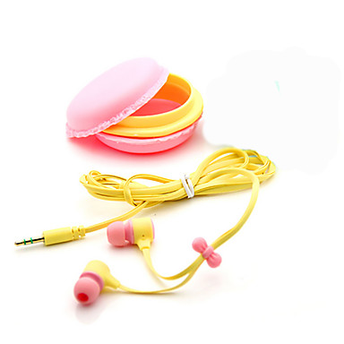 W uchu Przewodowy / a Słuchawki Plastikowy Telefon komórkowy Słuchawka z mikrofonem / Izolacja akustyczna Zestaw słuchawkowy