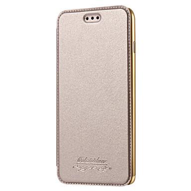 Case Kompatibilitás Apple iPhone 8 iPhone 8 Plus iPhone 5 tok iPhone 6 iPhone 7 Kártyatartó Galvanizálás Héjtok Tömör szín Kemény PU bőr