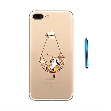 Kılıf Na iPhone 7 Plus iPhone 7 Apple iPhone 7 Plus iPhone 7 Wzór Czarne etui Kot Miękkie TPU na iPhone 7 Plus iPhone 7