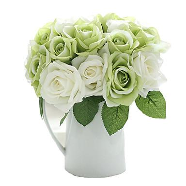 9pcs/Set 9 Ág Selyem Rózsák Asztali virág Művirágok 9.5 inch