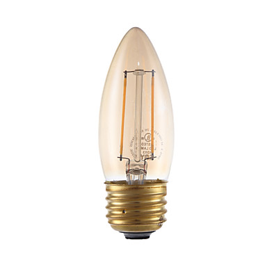 GMY® 1pc 2W 160 lm E26/E27 LED Filament Bulbs B 2 leds COB Dimmable Amber