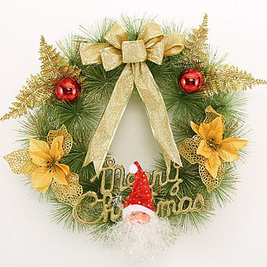 karácsonyi koszorú 3 szín tűlevelek karácsonyi dekoráció házibuli átmérője 40cm navidad új év kellékek