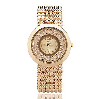 Damskie Kwarcowy Kryształowy zegarek Zegarek na nadgarstek / Na codzień Stop Pasmo Na co dzień Elegancki Modny Nowoczesne Srebro Złoty