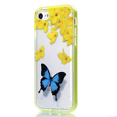Mert iPhone 7 tok / iPhone 6 tok / iPhone 5 tok Átlátszó / Minta Case Hátlap Case Pillangó Puha TPU AppleiPhone 7 Plus / iPhone 7 /