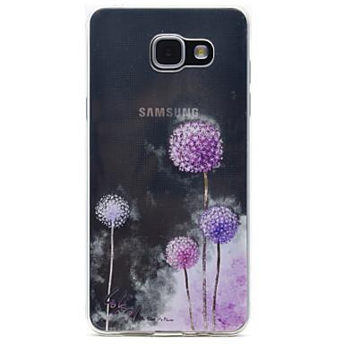 Case Kompatibilitás Samsung Galaxy A5(2016) A3(2016) Átlátszó Minta Hátlap Pitypang Puha TPU mert A5(2016) A3(2016)
