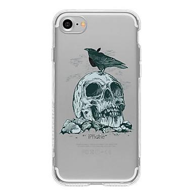 Kılıf Na Apple iPhone 6 iPhone 7 Plus iPhone 7 Wzór Czarne etui Czaszki Miękkie TPU na iPhone 7 Plus iPhone 7 iPhone 6s Plus iPhone 6s