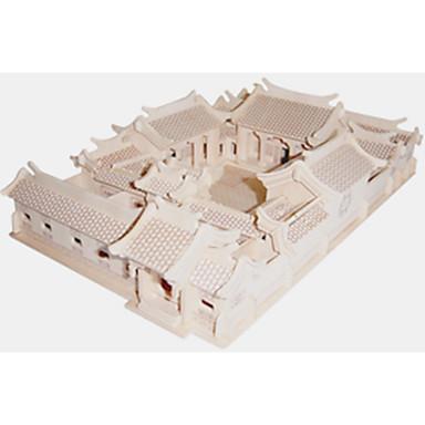 직소 퍼즐 나무 퍼즐 빌딩 블록 DIY 장난감 사각형 / 중국 건축 1 나무 크리스탈
