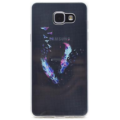 케이스 제품 Samsung Galaxy A5(2016) A3(2016) 투명 패턴 뒷면 커버 깃털 소프트 TPU 용 A5(2016) A3(2016)