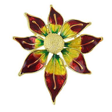 Női Melltűk - Virág Divat Bross Piros Kompatibilitás Esküvő / Parti / Különleges alkalom