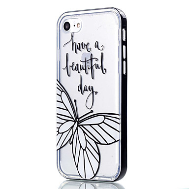 For iPhone 7 Case / iPhone 6 Case / iPhone 5 Case Transparent / Pattern Case Back Cover Case Butterfly Soft TPU AppleiPhone 7 Plus /