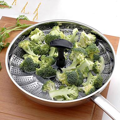 Vegetable Steamer 1PC Jó minőség / Kreatív Konyha Gadget / Multifunkcionállis / Legjobb minőség Konyhai edények Rozsdamentes acélKreatív