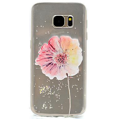 케이스 제품 Samsung Galaxy S7 edge S7 투명 패턴 뒷면 커버 꽃장식 소프트 TPU 용 S7 edge S7 S5 Mini S5