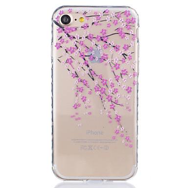 Mert iPhone 7 tok / iPhone 6 tok / iPhone 5 tok Átlátszó / Minta Case Hátlap Case Virág Puha TPU AppleiPhone 7 Plus / iPhone 7 / iPhone