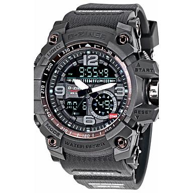 Ανδρικά Ψηφιακό Ψηφιακό ρολόι Στρατιωτικό Ρολόι Αθλητικό Ρολόι Ημερολόγιο Χρονογράφος Ανθεκτικό στο Νερό LED Πανκ Νυχτερινή λάμψη