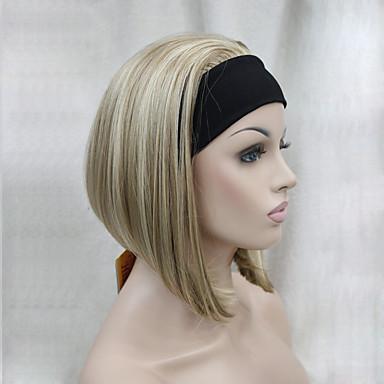 Συνθετικές Περούκες Ίσιο Κούρεμα καρέ Πυκνότητα Χωρίς κάλυμμα Γυναικεία Καρναβάλι περούκα Απόκριες Περούκα Κοντό Συνθετικά μαλλιά