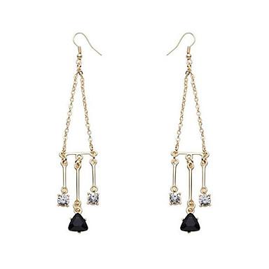 Σκουλαρίκι Κρεμαστά Σκουλαρίκια Κοσμήματα Γυναικεία Γάμου / Πάρτι / Καθημερινά / Causal Κρύσταλλο / Κράμα / Ζιρκονίτης / Επιχρυσωμένο1