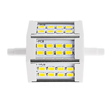 450 lm R7S Reflektory LED Rurka 24 Diody lED SMD 5730 Dekoracyjna Ciepła biel Zimna biel AC85-265 AC 220-240V