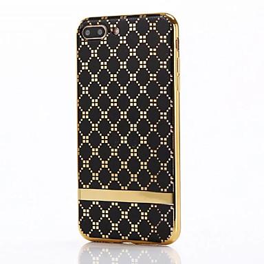 용 도금 케이스 뒷면 커버 케이스 기하학 패턴 소프트 TPU 용 Apple 아이폰 7 플러스 / 아이폰 (7) / iPhone 6s Plus/6 Plus / iPhone 6s/6