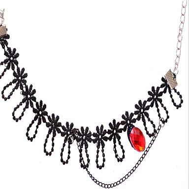 damskie czarne koronki anklet biżuteria 1szt