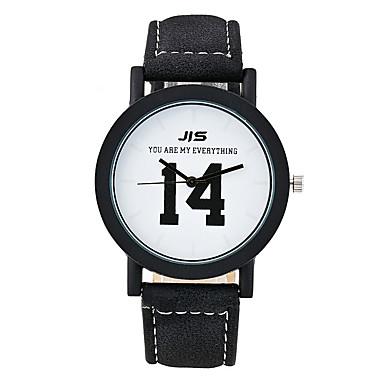 Xu™ Damskie Modny Zegarek na bransoletce Kwarcowy PU Pasmo Postarzane Na co dzień Czarny White Black