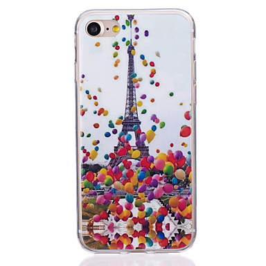 Mert Ultra-vékeny Case Hátlap Case Eiffel torony Puha TPU AppleiPhone 7 Plus / iPhone 7 / iPhone 6s Plus/6 Plus / iPhone 6s/6 / iPhone