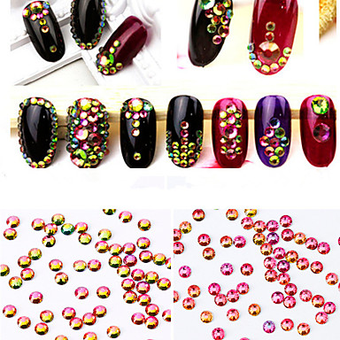 1440pcs Nail Art Διακόσμηση rhinestone Μαργαριτάρια μακιγιάζ Καλλυντικά Σχεδιασμός νυχιών Τέχνης