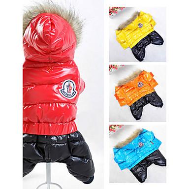 Chien Manteaux Pulls à capuche Combinaison-pantalon Vêtements pour Chien Elégant Garder au chaud Coupe-vent Sportif Mode Couleur Pleine