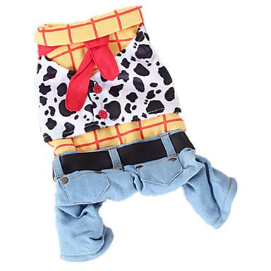 Pies Kostiumy Kombinezon Ubrania dla psów Kowboj Modny Jeansy Tęczowy Kostium Dla zwierząt domowych
