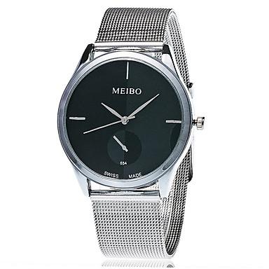 billige Herreure-Xu™ Dame Armbåndsur Quartz Rustfrit stål Sølv Afslappet Ur Analog Vintage Afslappet Mode - Hvid Sort