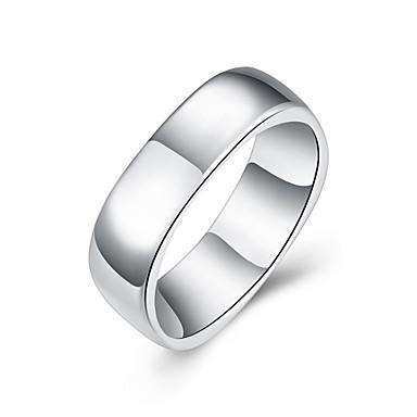 여성용 새해 맞이 / 약혼 반지 - 구리, 은 도금 7 / 8 실버 제품 결혼식 / 파티 / 일상