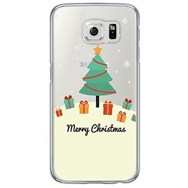 tok Για Samsung Galaxy S7 edge S7 Εξαιρετικά λεπτή Ημιδιαφανές Πίσω Κάλυμμα Χριστούγεννα Μαλακή TPU για S7 edge S7 S6 edge S6 S5