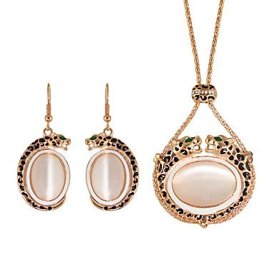 Κοσμήματα 1 Κολιέ / 1 Ζευγάρι σκουλαρίκια Στρας Γάμου / Πάρτι / Καθημερινά / Causal 1set Γυναικεία Χρυσό Τριανταφυλλί Δώρα Γάμου