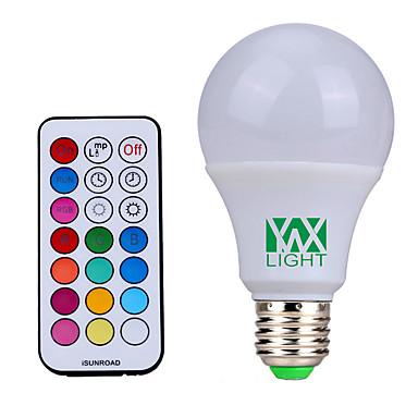 YWXLIGHT® 500 lm E26/E27 Żarówki LED kulki 12 Diody lED SMD Przysłonięcia Dekoracyjna Zdalnie sterowana Naturalna biel RGB AC85-265 AC